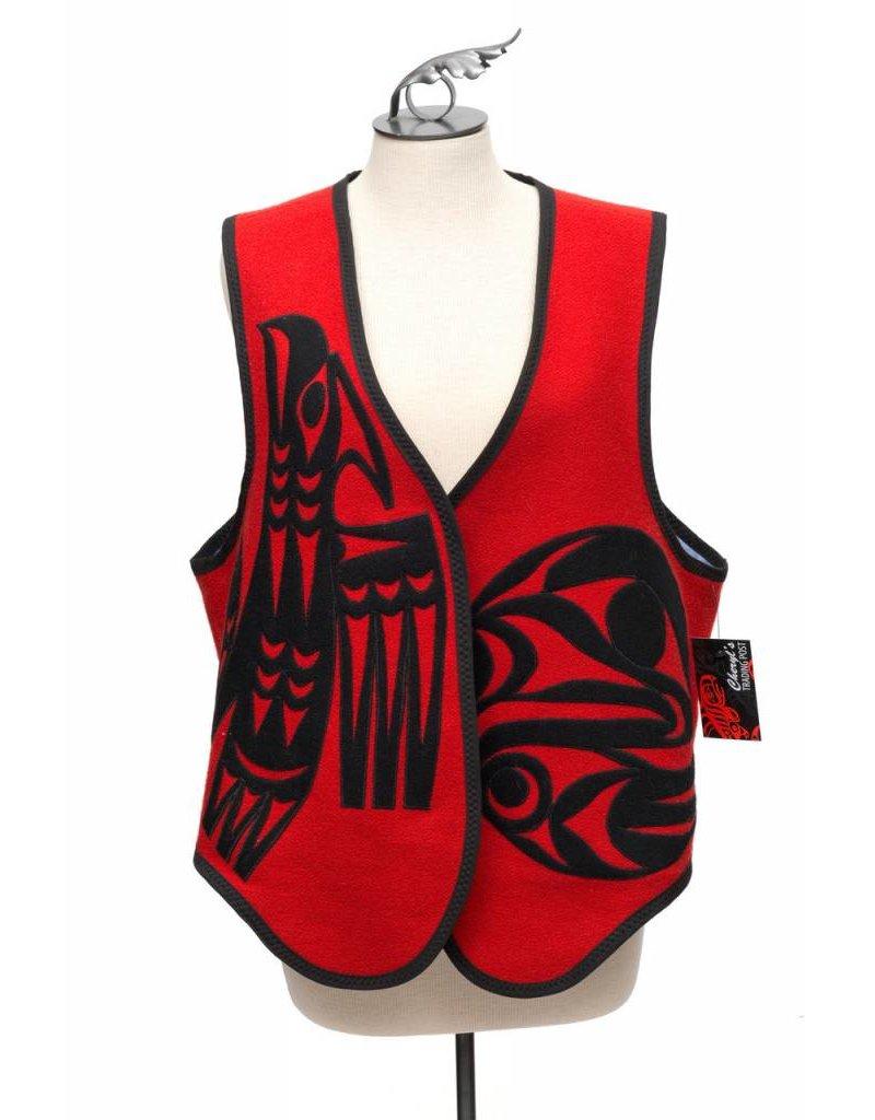 Applique Vest by Kieth Nahanee (Squamish).