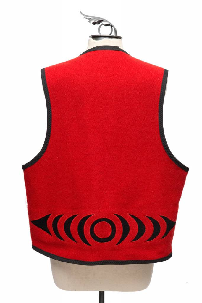 Applique Vest by Kieth Nahanee