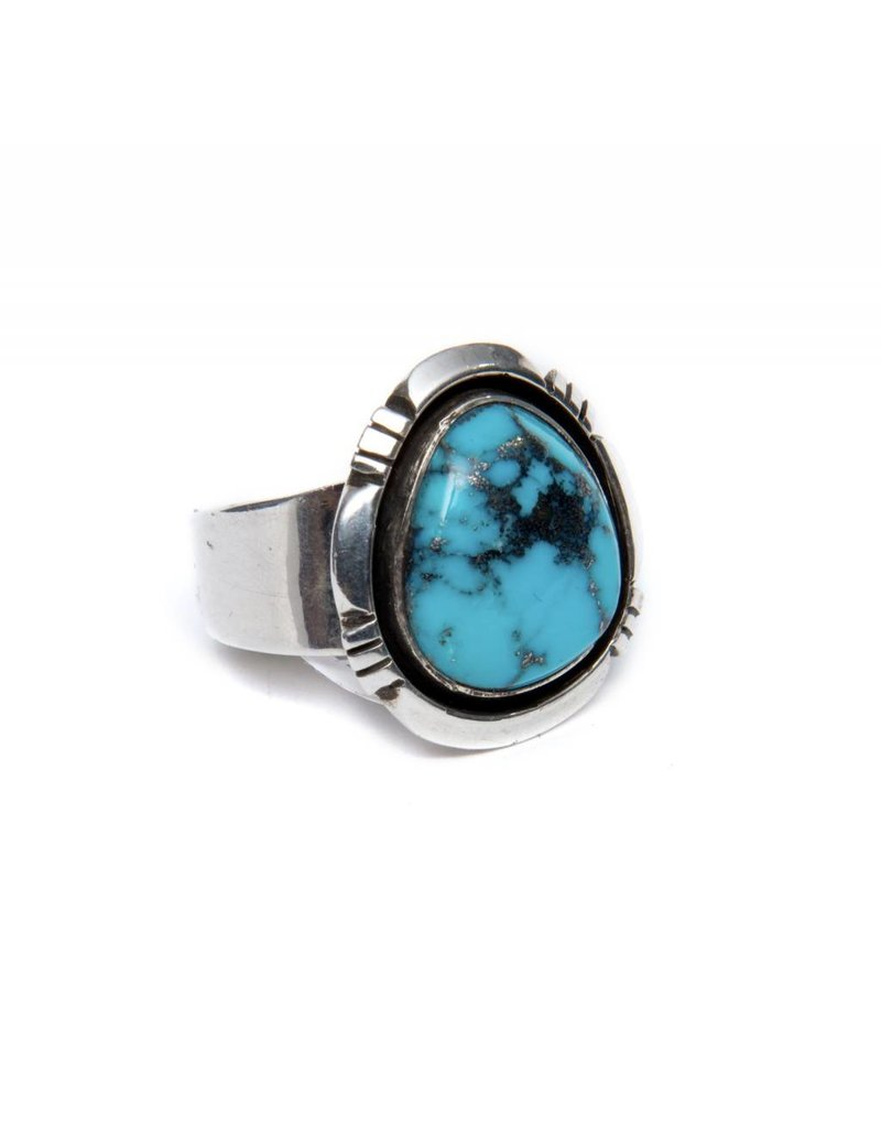 Natural Kingman Ring S 9 by Randy and Etta Endito (Navajo).