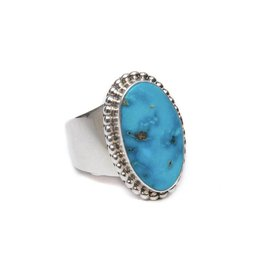 Natural Blue Ridge Ring by Andy Anderson (Navajo) S 8 adjustable one size up or down