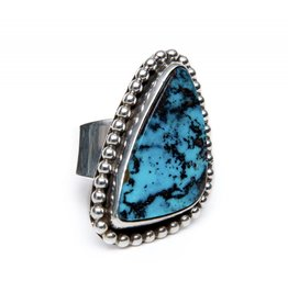 Natural Pilot Mountain Ring by Ruth Ann Begay (Navajo).