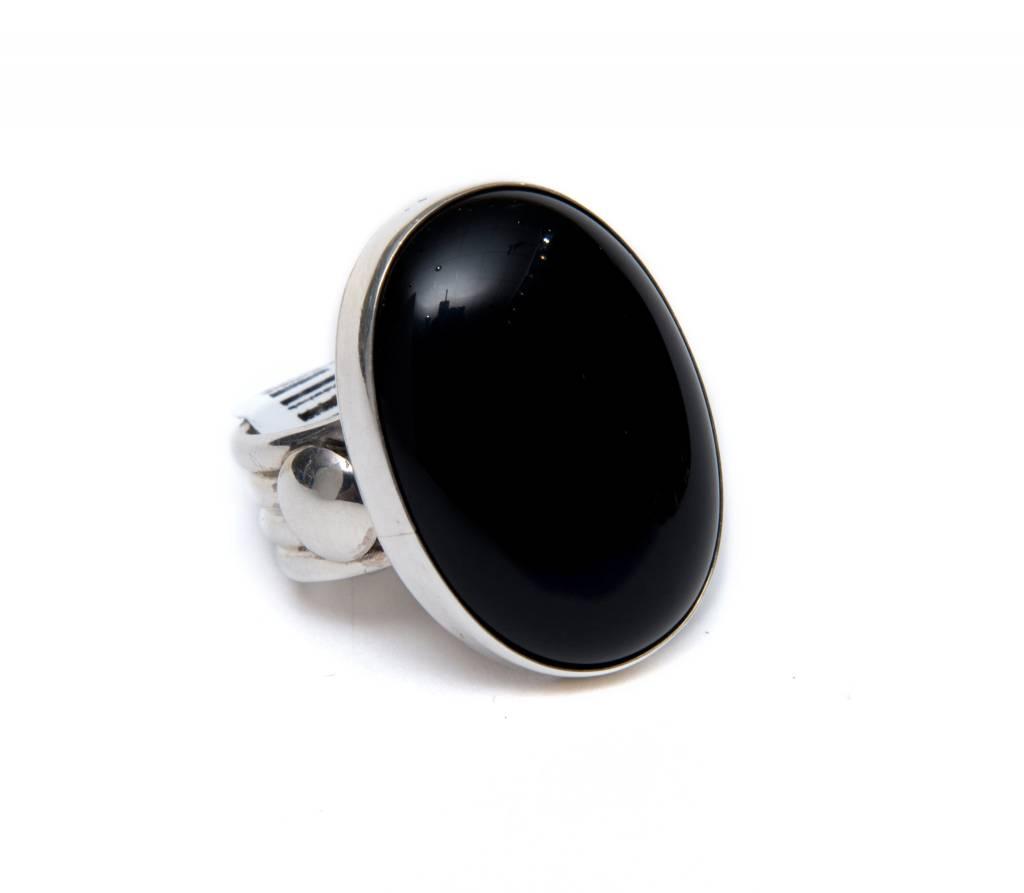 Black Onyx Ring by Bryant Martinez (Navajo).