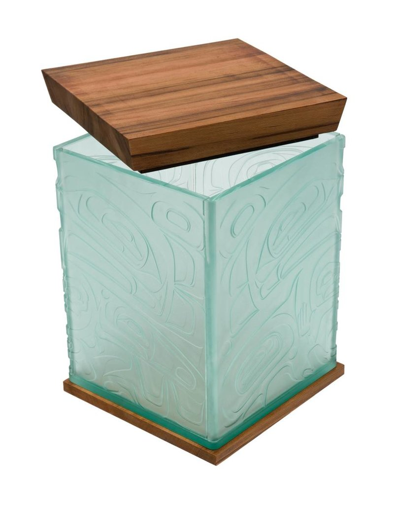 Eagle Bentbox in Glass by Alano Edzerza (Tahltan).