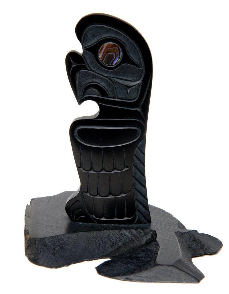 Argillite Eagle Carving by Calvin Bell (Haida).