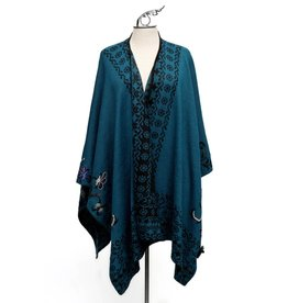 Teal Reversible Shawl.