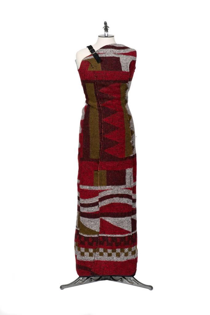 Debra Sparrow Floor Length Side Split Dress