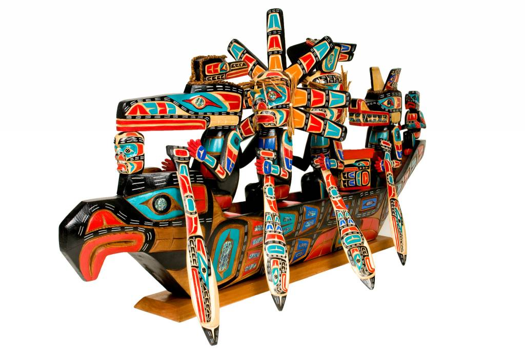 SOLD Spirit Canoe by Jimmy Joseph (Kwakwakawakw).