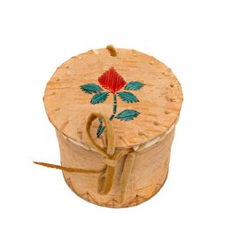 Small Souvenir Birchbark Basket with Quills.