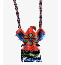 Huichol Beaded Eagle Necklace.