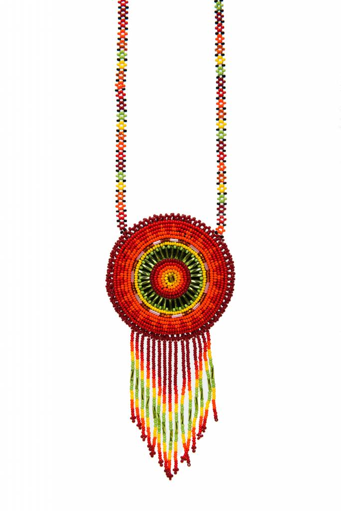 Medium Beaded Medallion Necklaces.