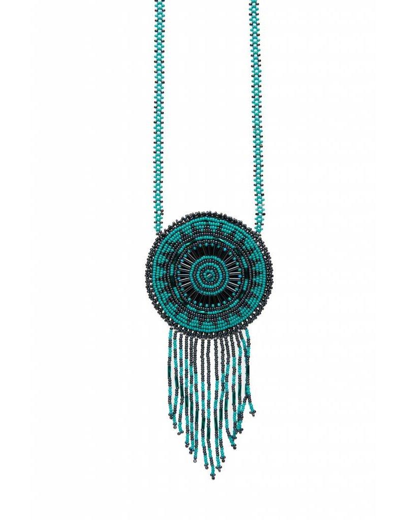 Medium Beaded Medallion Necklaces.
