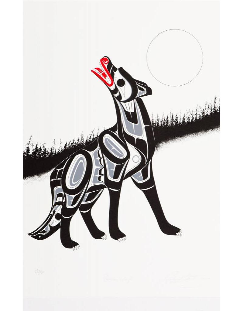Timber Wolf First Nations artwork