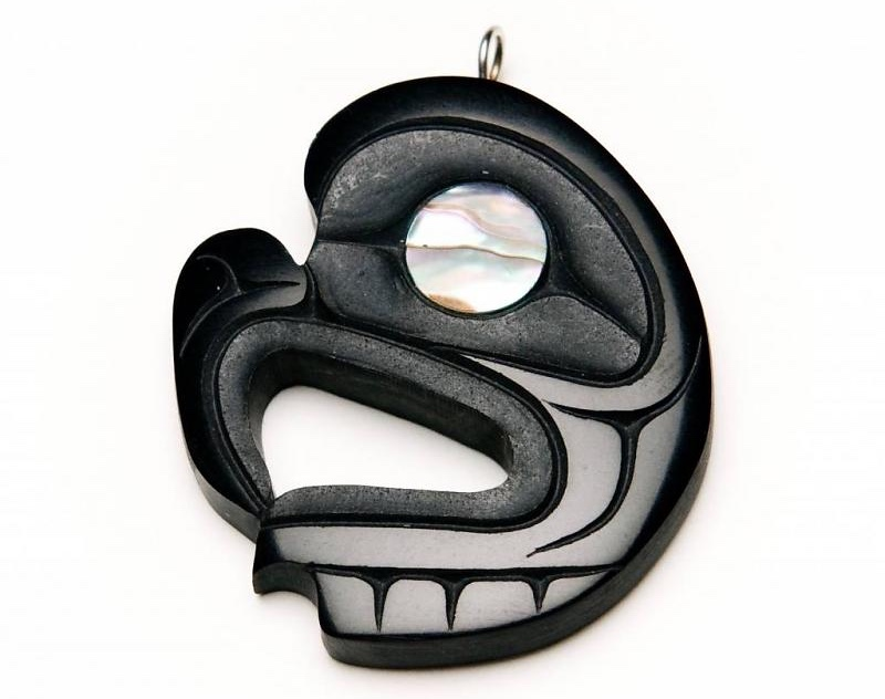 argillite jewelry by Calvin Bell