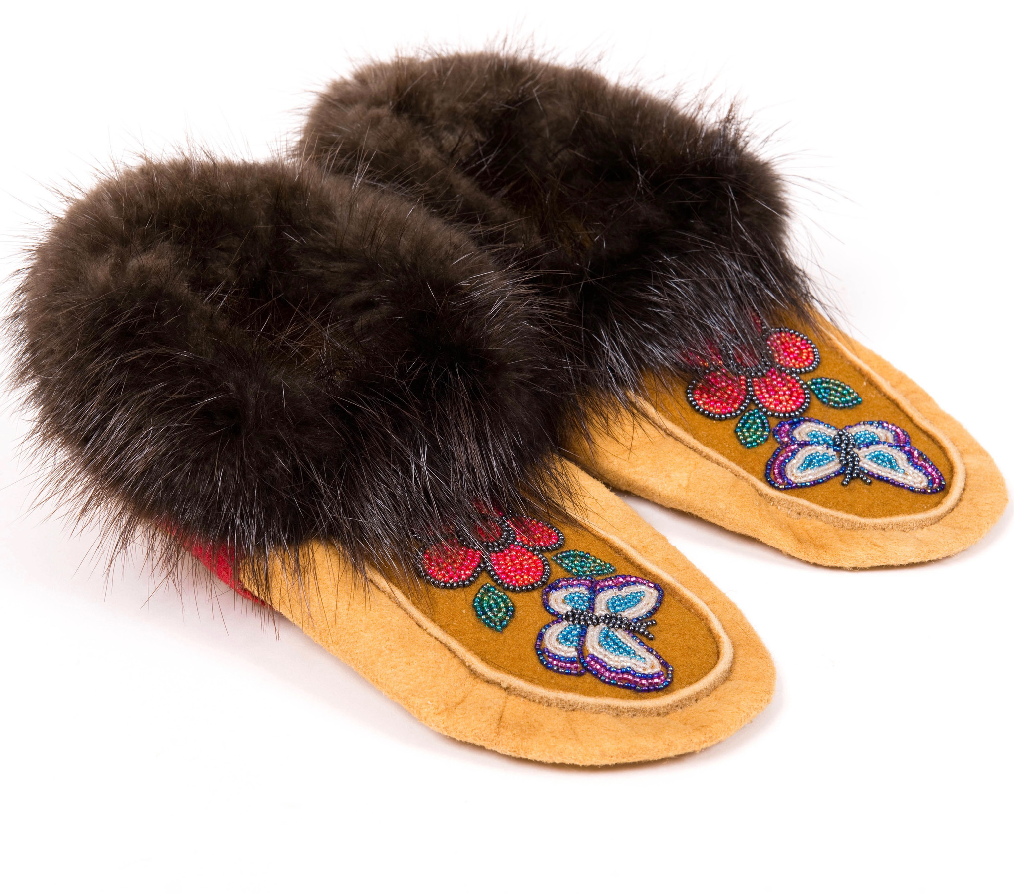Traditional Moosehide moccasins