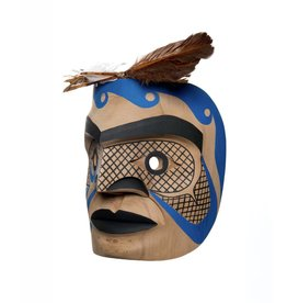 """8"""" Fisherman Mask by Russel Tait (Ditidaht)."""