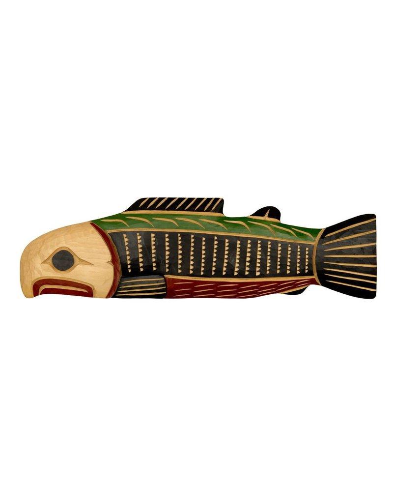 Salmon Plaque by Cody Mathias (Squamish).