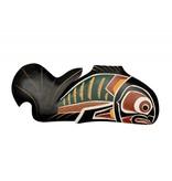 Salmon plaque by Bill Wilson (Kwakwakawakw).