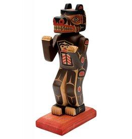 Bear Figure carved by Gord Hill (Kwakwakawakw).