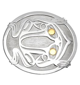 tsaw Frog Belt Buckle by Grant Pauls (Tahltan).