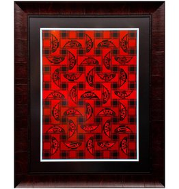 'Salmon Blanket' - Framed Print by Susan Point (Coast Salish).