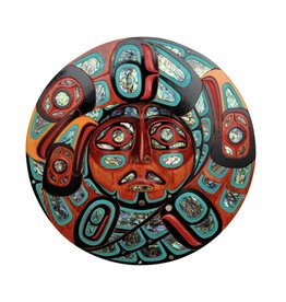 Ravens Around the Sun by Jacob Lewis - Moon Mask - Abalone