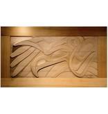 Thunderbird Cedar Wall Panel by Alano Edzerza