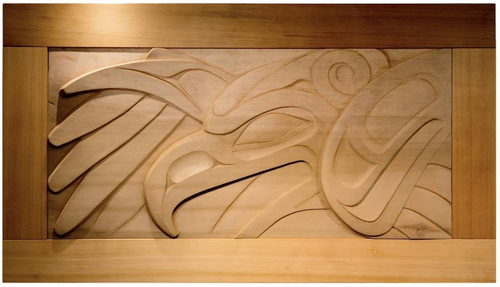 Thunderbird Cedar Wall Panel by Alano Edzerza (Tahltan)