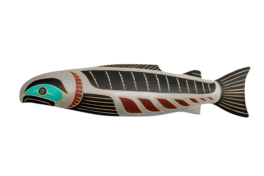 Salmon by David Louis Jr. (Musqueam / Coast Salish)