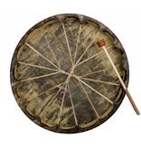 "Unpainted 24"" Native Seal Drum (patterned)."