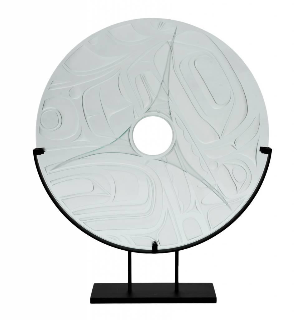 Orca Glass panel by Corey Bulpitt (Haida)