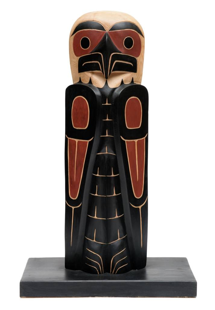 Small Eagle Totem Pole by David Louis Jr.