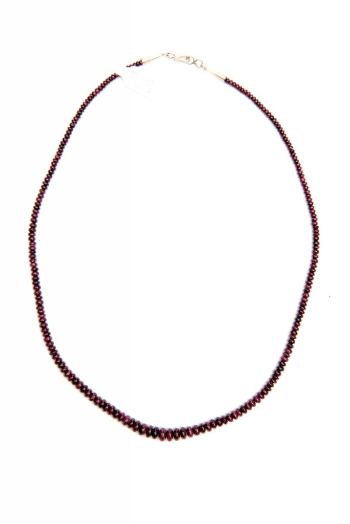 Purple Spiney Oyster Rounded Bead Necklace