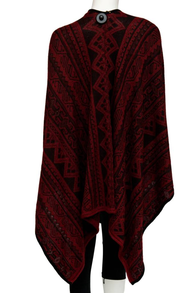 Garnet Gem Ruana - 80% Alpaca 20% Cotton