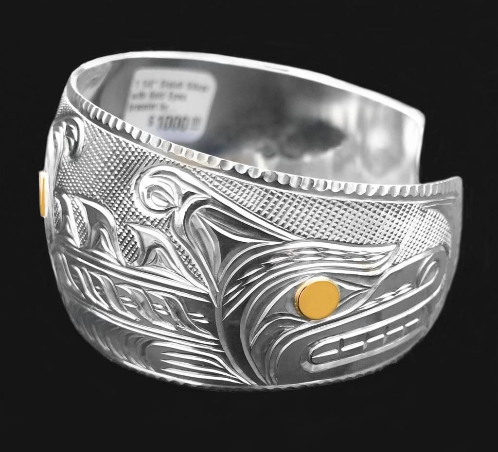 """1 1/4"""" Sisiutl  Bracelet by Richie Baker"""