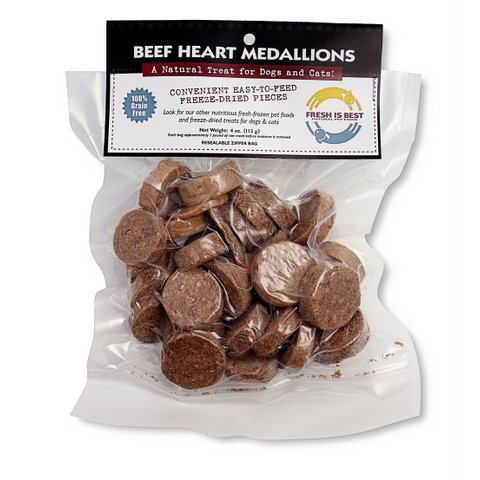 FRESH IS BEST (COMPANION NATURAL) Beef Heart Medallions 4 OZ