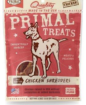 PRIMAL PET FOODS INC. Primal Chicken Shredders 4 OZ