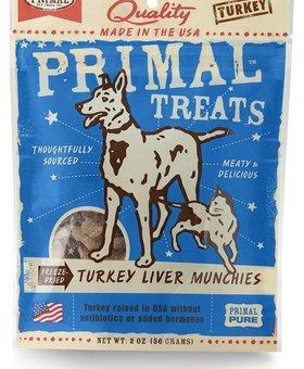 PRIMAL PET FOODS INC. Primal Turkey Liver Munchies 2 OZ