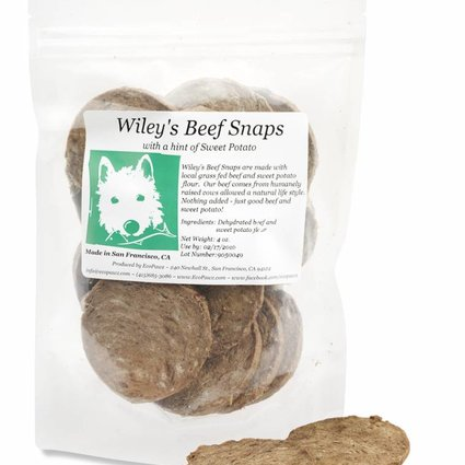 ECOPAWZ! Wiley's Beef Snaps 4 OZ