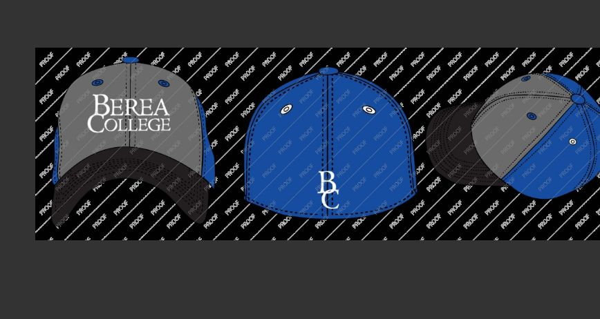 Top of the World Headware Ball Cap, Blue and Gray, Stacked Logo, BC Back