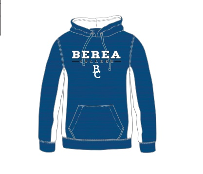 Colosseum Blue and White Sports-Wear Hoodie