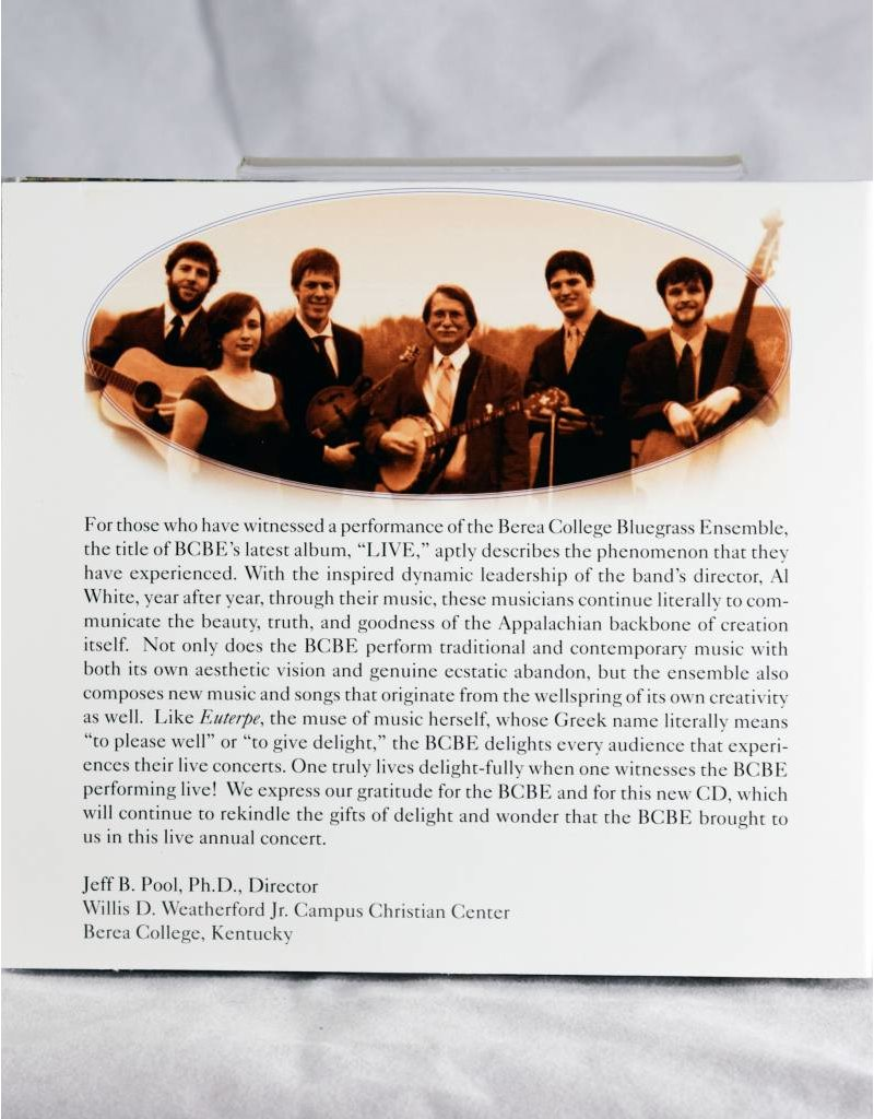 Bluegrass Music Ensemble Berea College Bluegrass Ensemble Live CDs