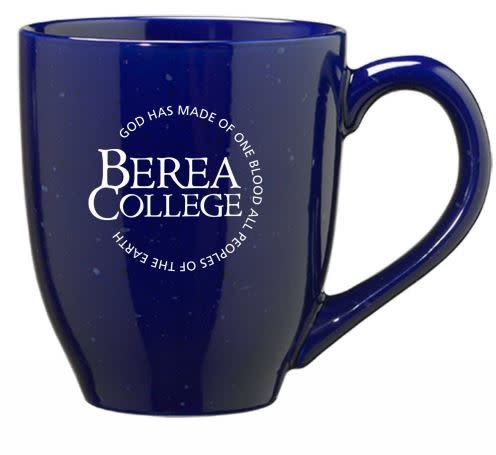 Blue Speckled Circle Logo Mug Drinkwear Berea College Visitor Center