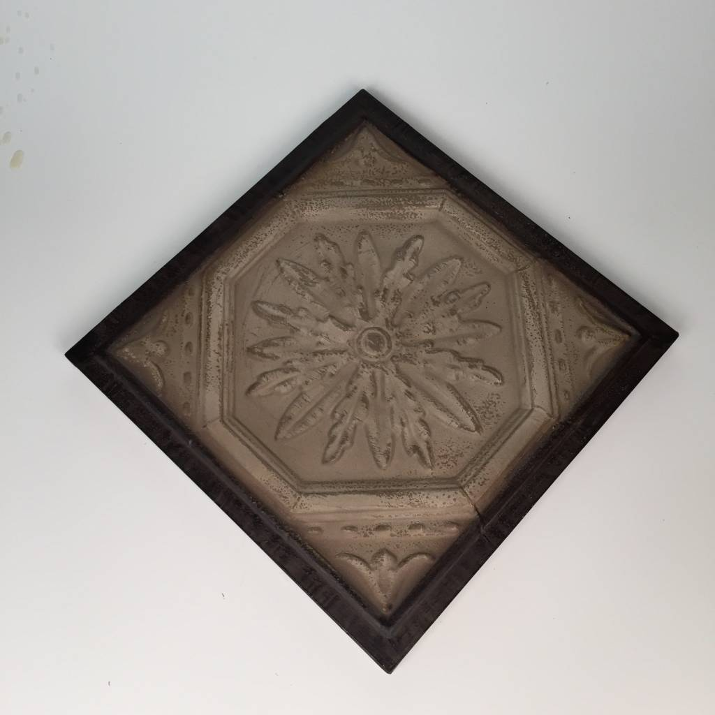 Metal Wall Hanging Ceiling Tile With Floral Design Wow Warehouse