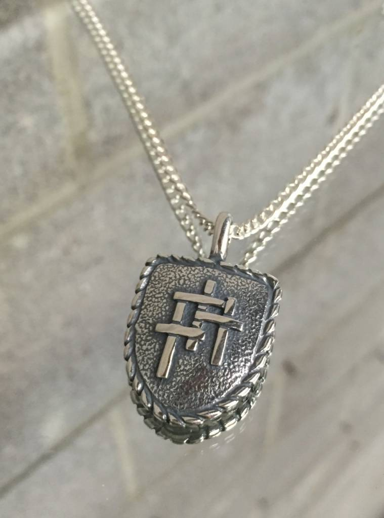Ag1308 shield of faith necklace ss20 box chain wow warehouse ag1308 shield of faith necklace ss20 box chain aloadofball Images