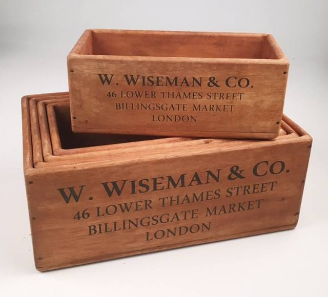 Rectangle Wooden Crates - WOW Warehouse