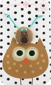 Turquoise Chickadee Necklace-