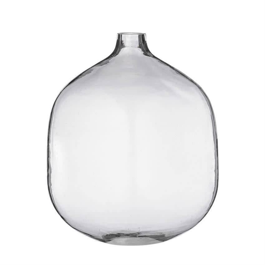 BLOOMINGVILLE Round Gl Vase- - WOW Warehouse on