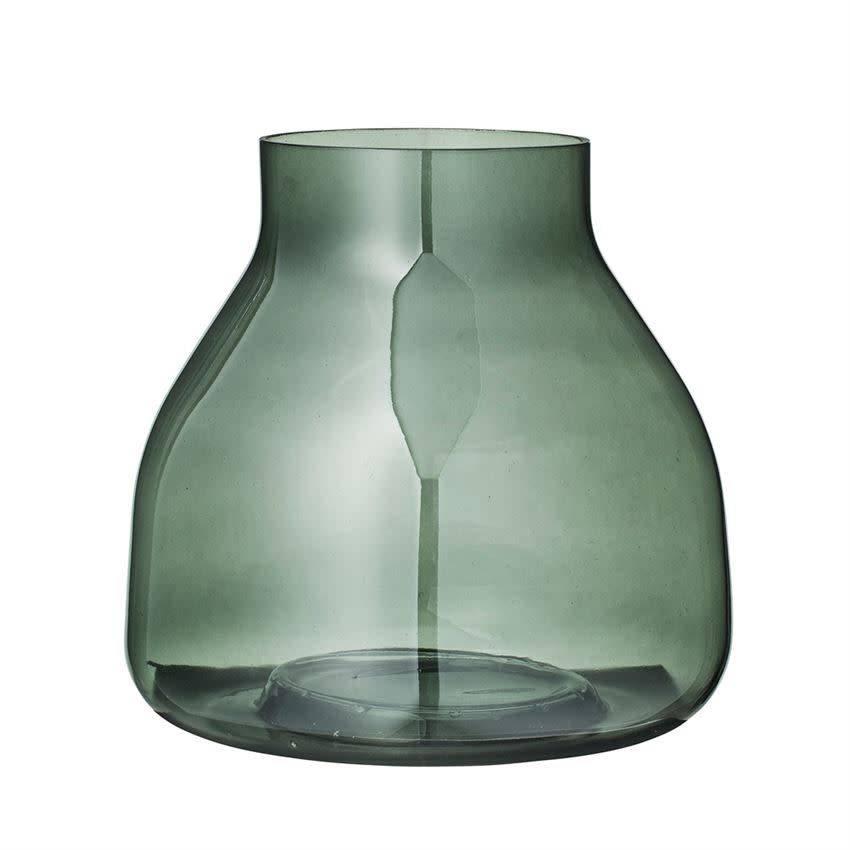 Bloomingville Green Glass Vase Wow Warehouse