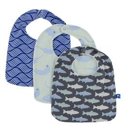 Kickee Pants Bib Set (Set of 3) (Kite Water Lattice, River Otter, & Trout - One Size)