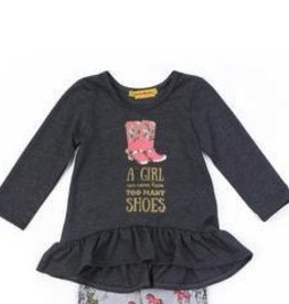 Haven Girl Wild Horses Annie Tunic (Charcoal)